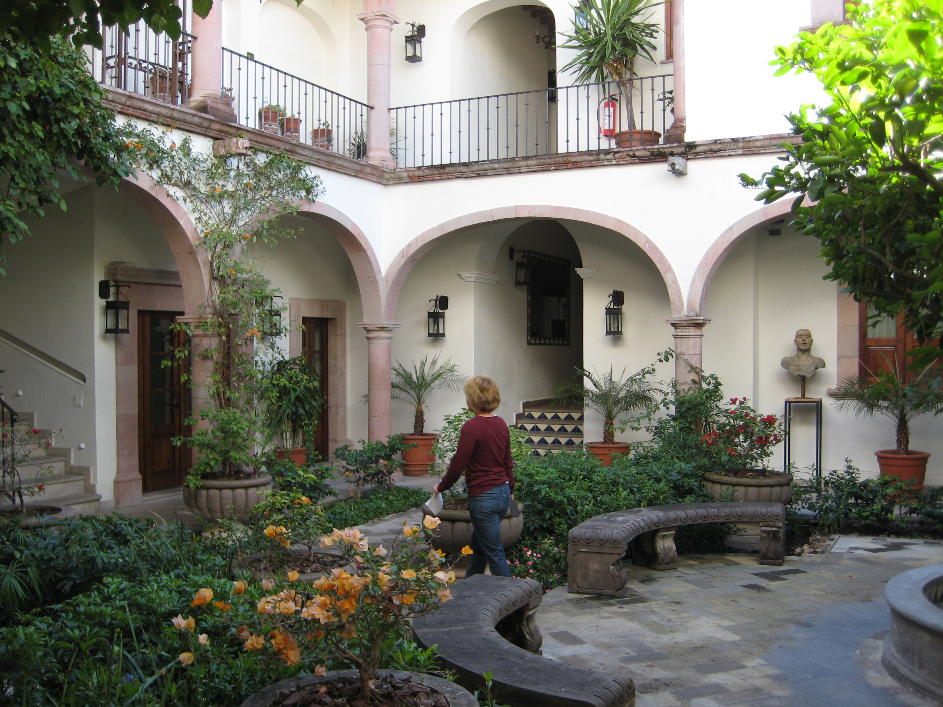 returning to our cool courtyard for siesta